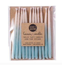 Knot & Bow Aqua Ombre Birthday Candles