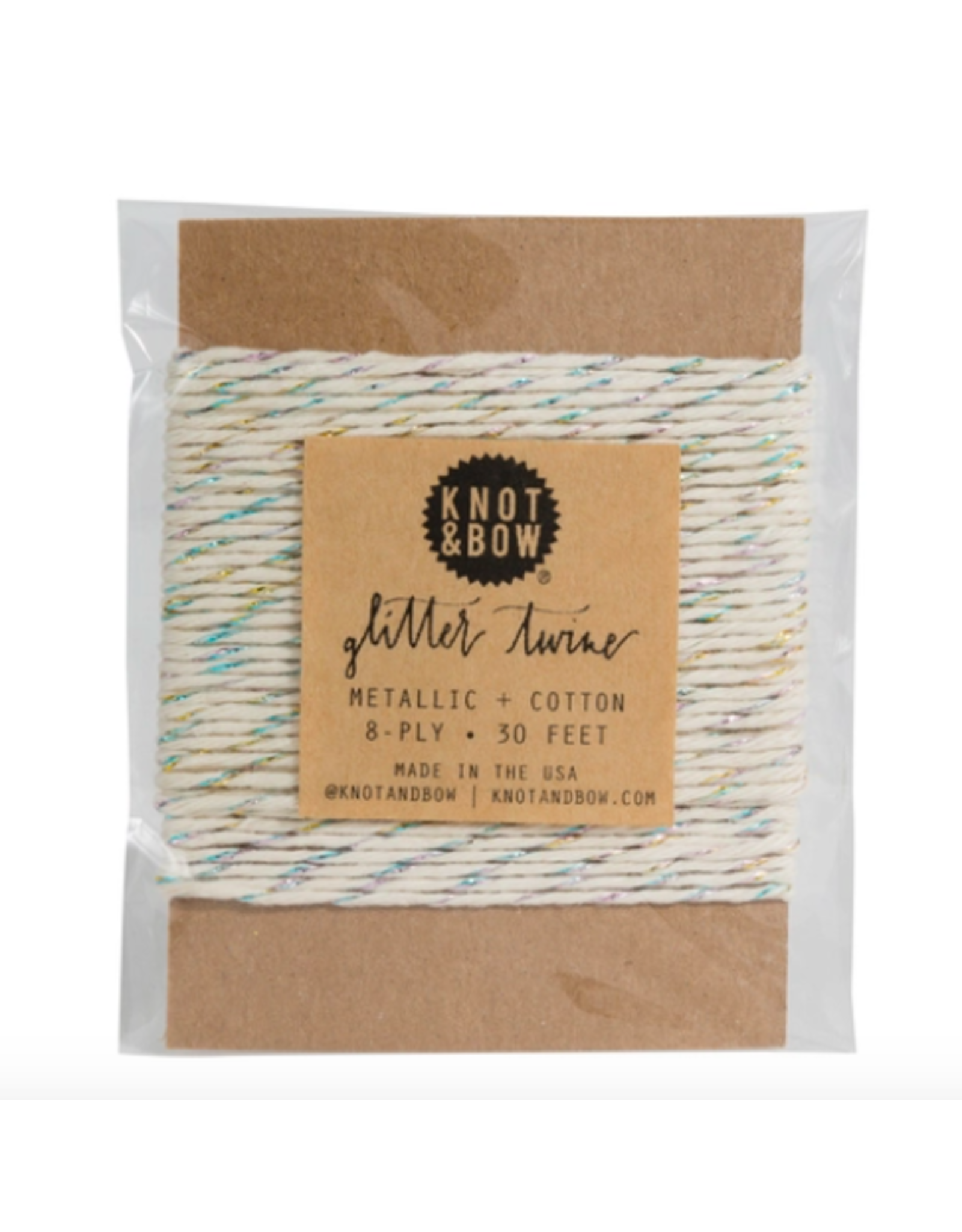 Knot & Bow Prism  Natural Glitter Twine