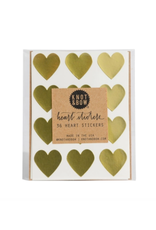 Knot & Bow Gold Heart Stickers
