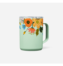 Corkcicle Coffee Mug 16oz in Gloss Mint Lively Floral
