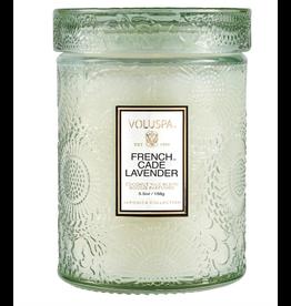 Voluspa French Cade Lavender Small Jar Glass Candle