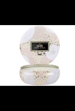 Voluspa Santal Vanille 3 Wick Candle in Decorative Tin