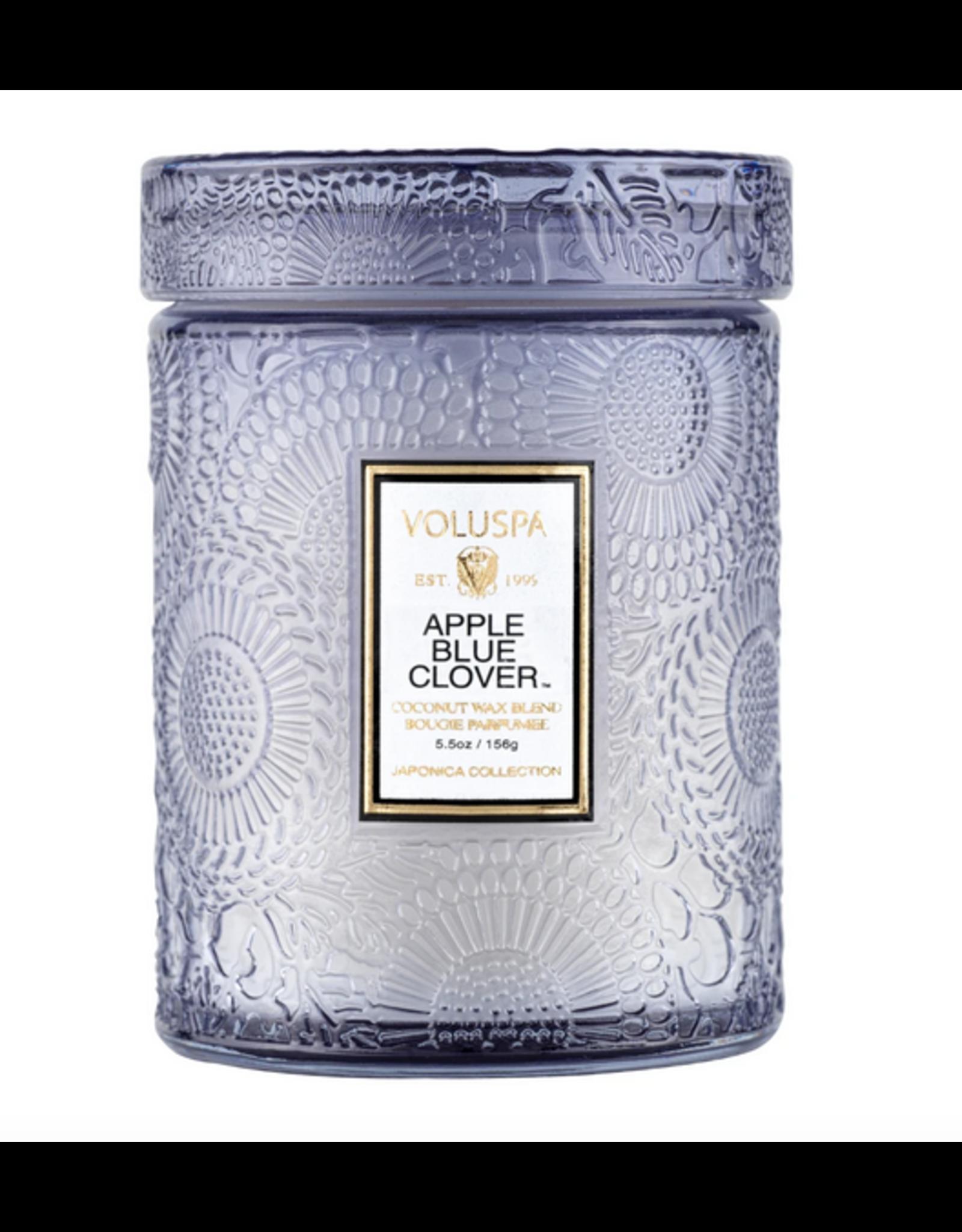 Voluspa Apple Blue Clover Small Jar Glass Candle