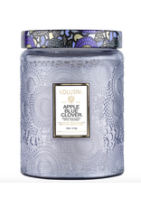 Voluspa Apple Blue Clover Large Glass Jar Candle