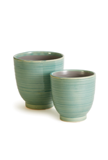 Napa Home & Garden Aubrey Pot in Aqua 6.75 x 6.75 x 6.75