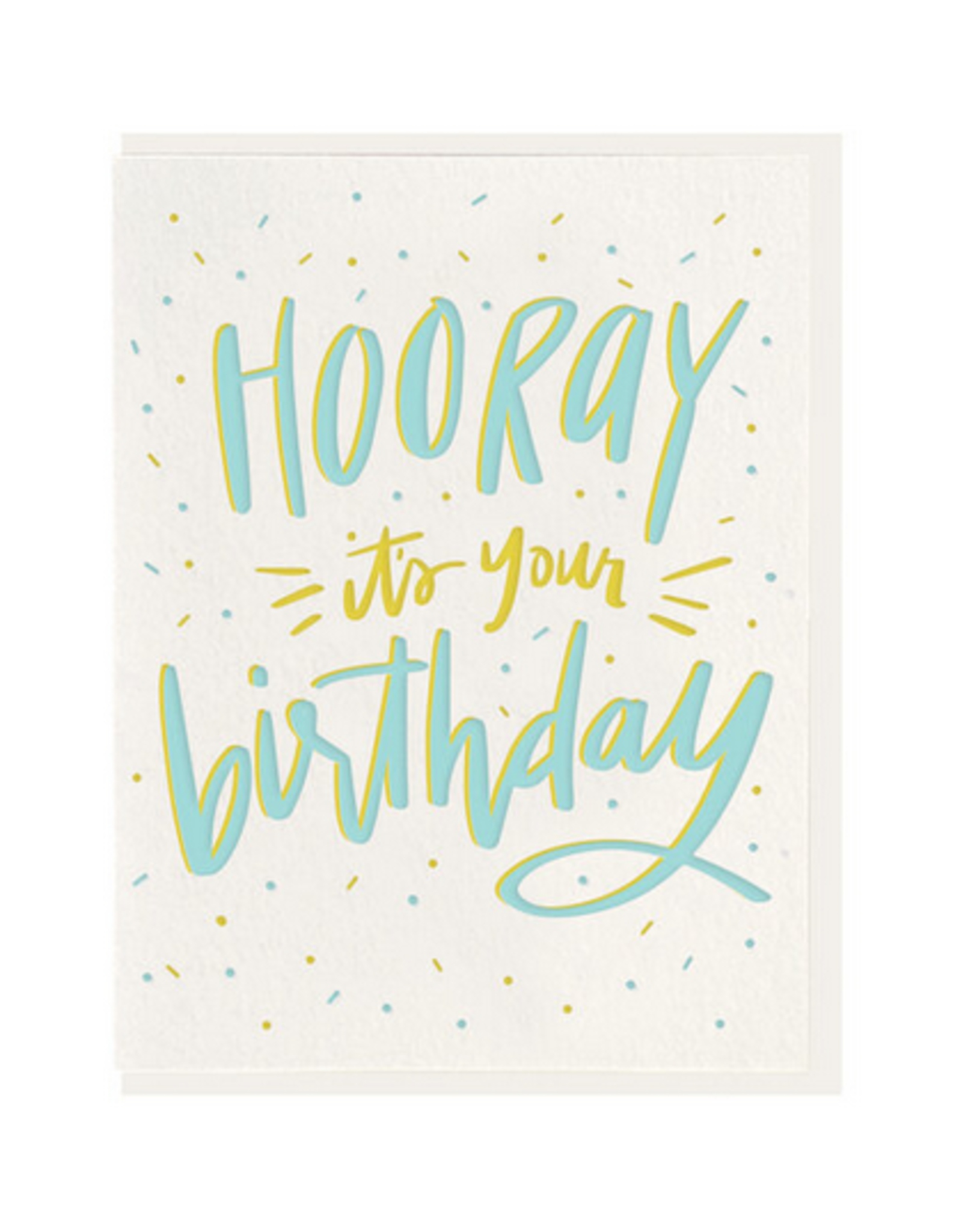 Dahlia Press Hooray Birthday Card