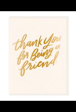 Dahlia Press Thanks Friend Card