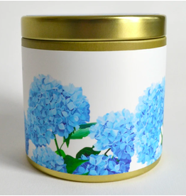 Paint & Petals Hydrangea Tin 10 oz Candle