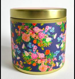 Paint & Petals Galaxy Blue Floral Tin 10 oz Candle