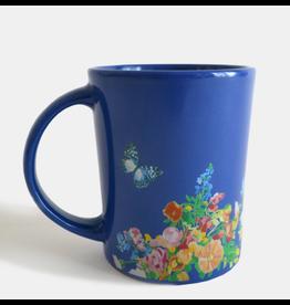 Paint & Petals Coffee Mug in Galaxy Blue Flowers