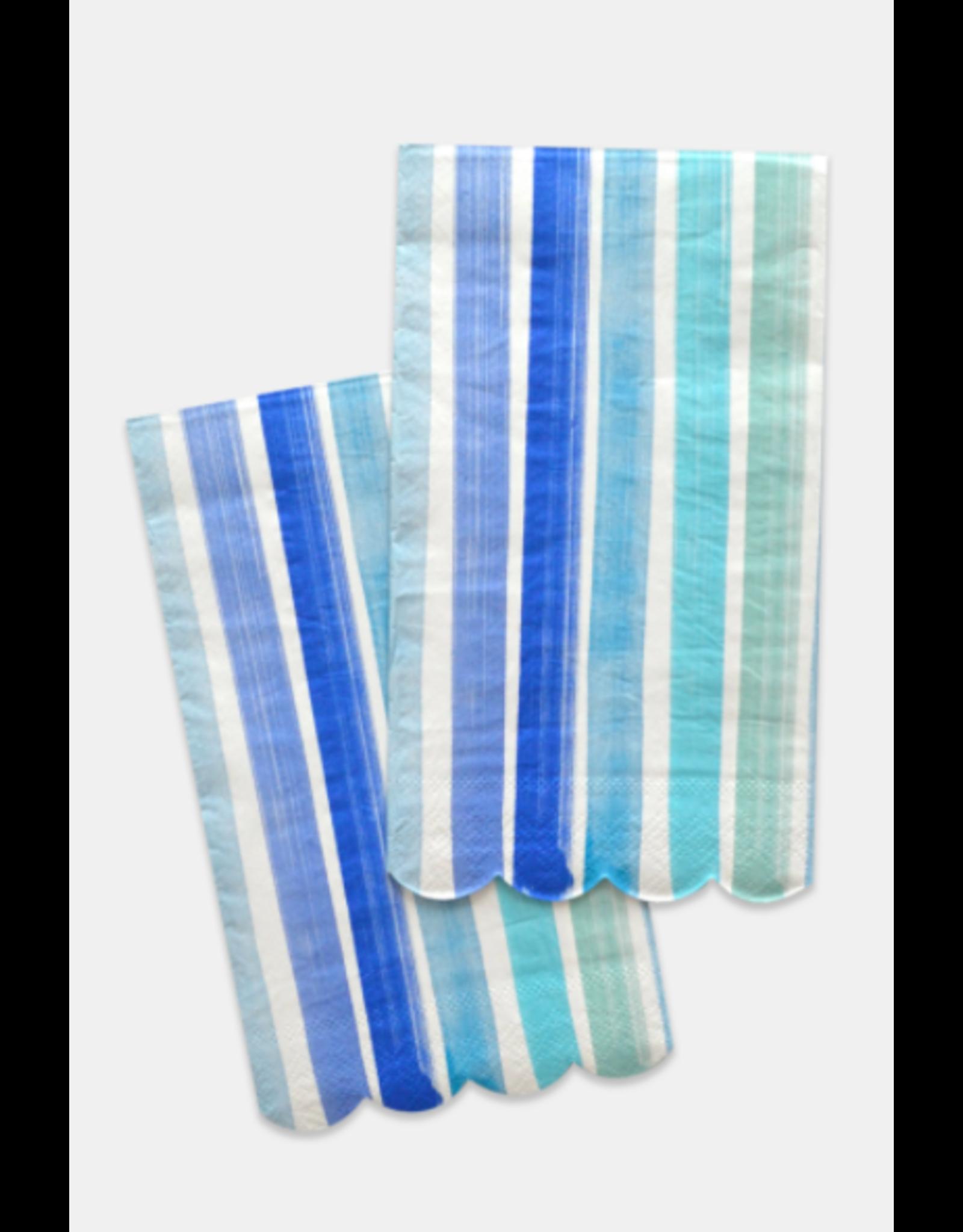 Paint & Petals Guest Napkins in Brushstroke Stripe