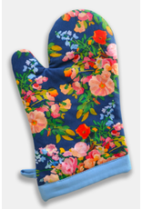 Paint & Petals Galaxy Blue Floral Oven Mitt