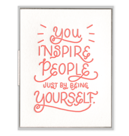 Ink Meets Paper You Inspire Card