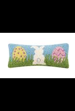 Peking Handicraft Bunny and Eggs Hook Pillow