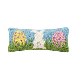 Peking Handicraft Bunny and Eggs Hook Pillow