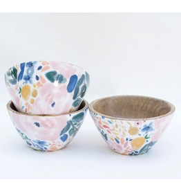 Mary Square Set of 3 Bowls in Enchanted Garden