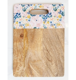 Mary Square Rectangle Cutting Board in Enchanted Garden