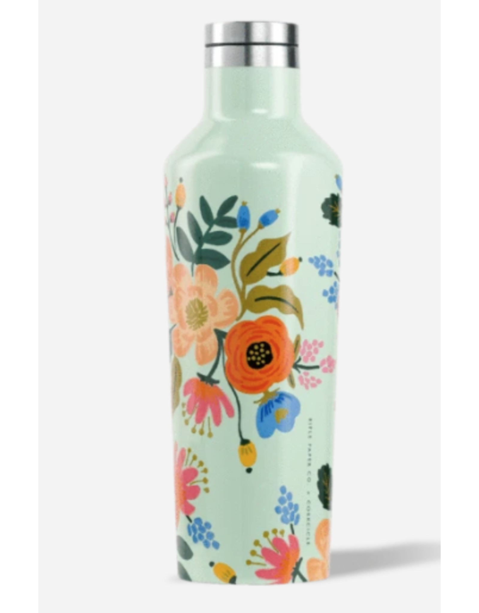 Corkcicle Canteen 16oz Gloss Mint Lively Floral