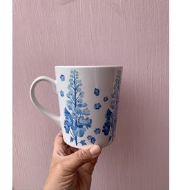 Paint & Petals Coffee Mug in Pacific Blue