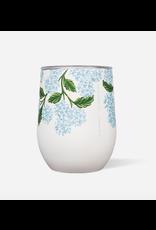 Corkcicle Stemless 12oz Gloss Cream Hydrangea
