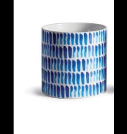 """Napa Home & Garden Blue Mood Dash Cachepot 6.25"""""""