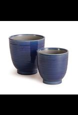 Napa Home & Garden Aubrey Pot in Blue 6.75 x 6.75 x 6.75