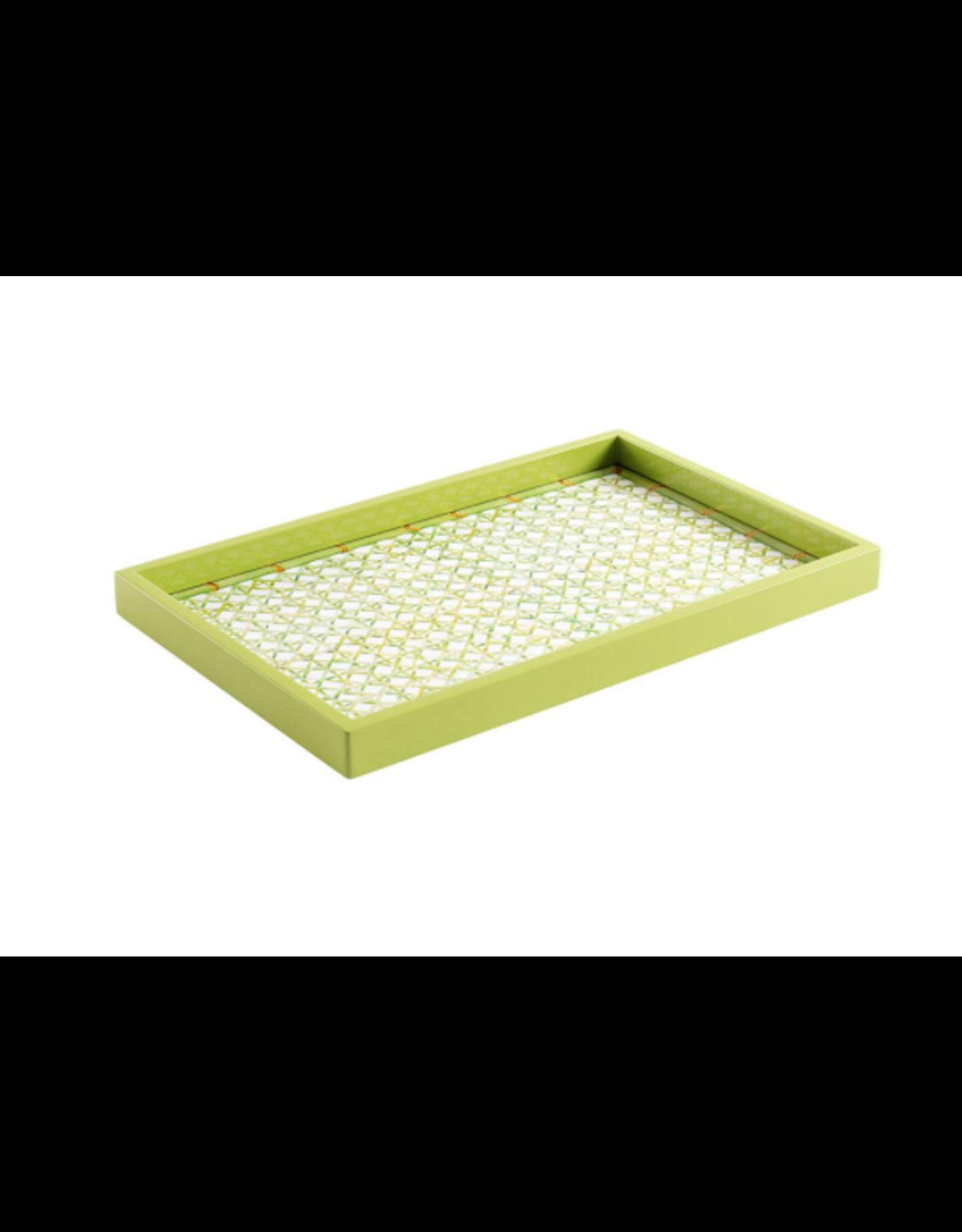Caspari Green Trellis Rectangular Tray