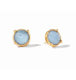 Julie Vos Honey Stud in Iridescent Chalcedony by Julie Vos