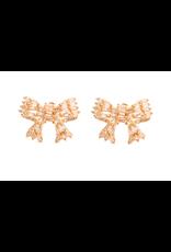Sparkler Diamond Bow Stud Earrings