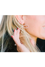 Rhinestone Statement Bow Earrings