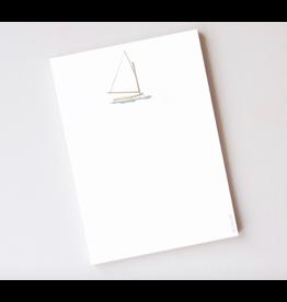 Sara Fitz Sailboat Notepad by Sara Fitz