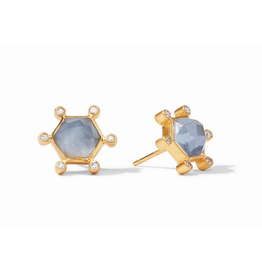 Julie Vos Cosmo Stud by Julie Vos in Iridescent Chalcedony Blue
