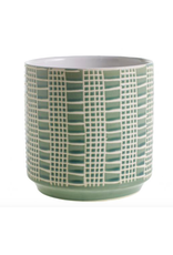 """Zati Pot in Green 6.5"""" x 6.75"""""""