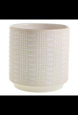 """Zati Pot in White 6.5"""" x 6.75"""""""