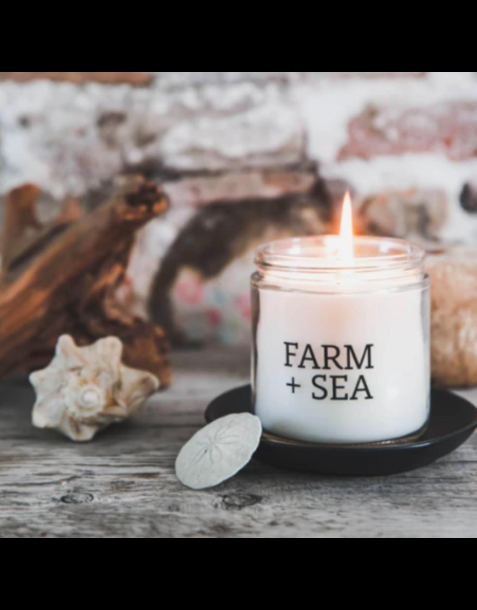 Farm + Sea White Peach Large Candle by Farm + Sea