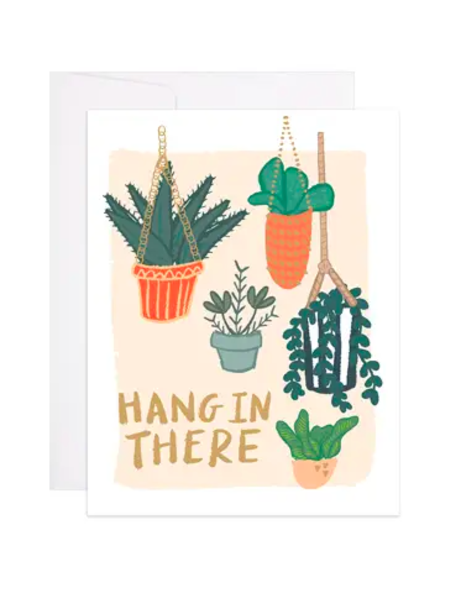 9th Letterpress Hang In There Plants Card