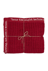 Waffle Throw in Cranberry Red