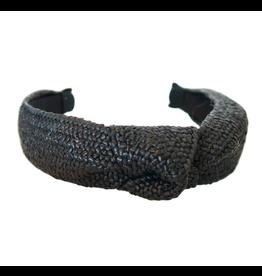 Black Raffia Headband