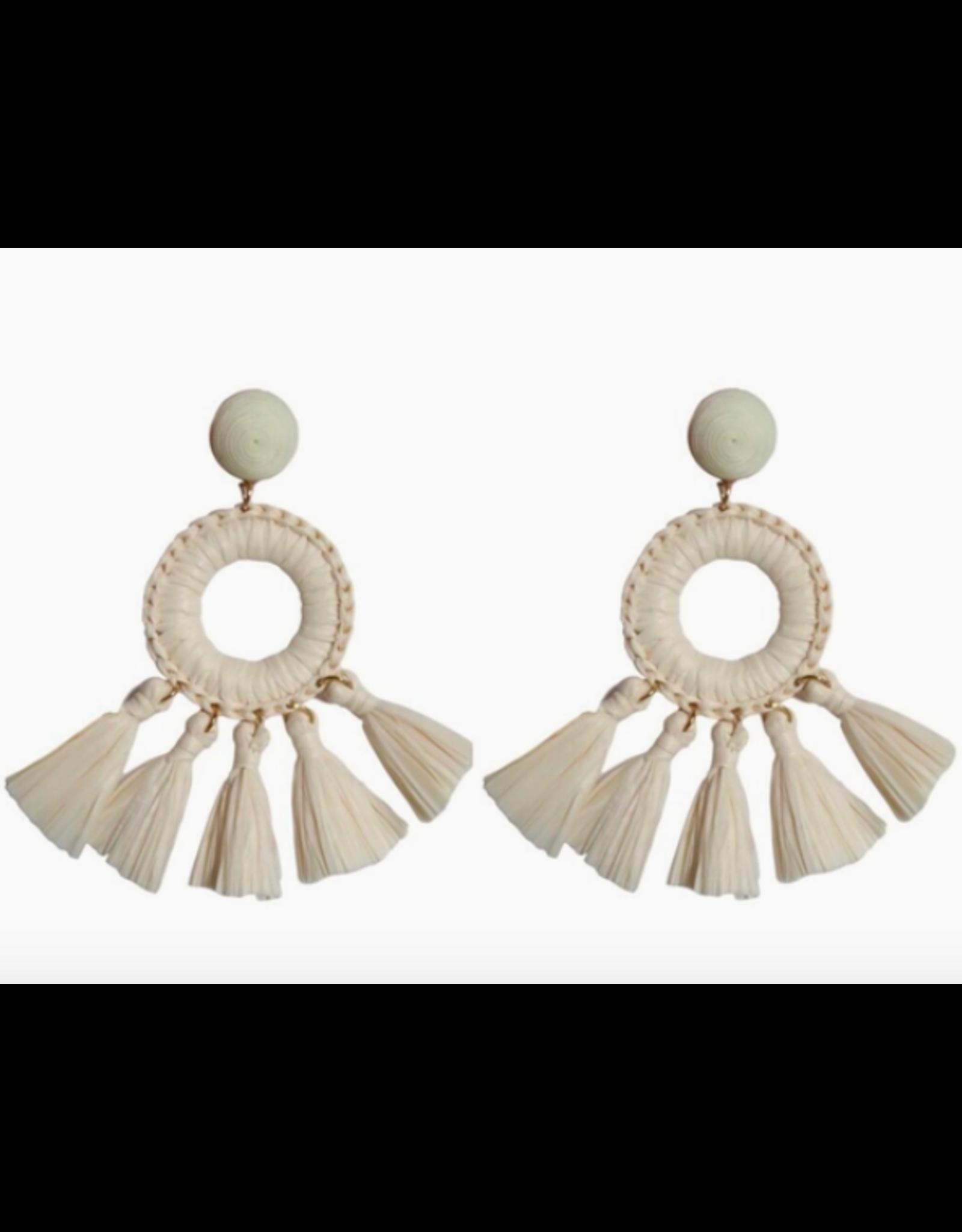 Rio Raffia Tassel Earrings