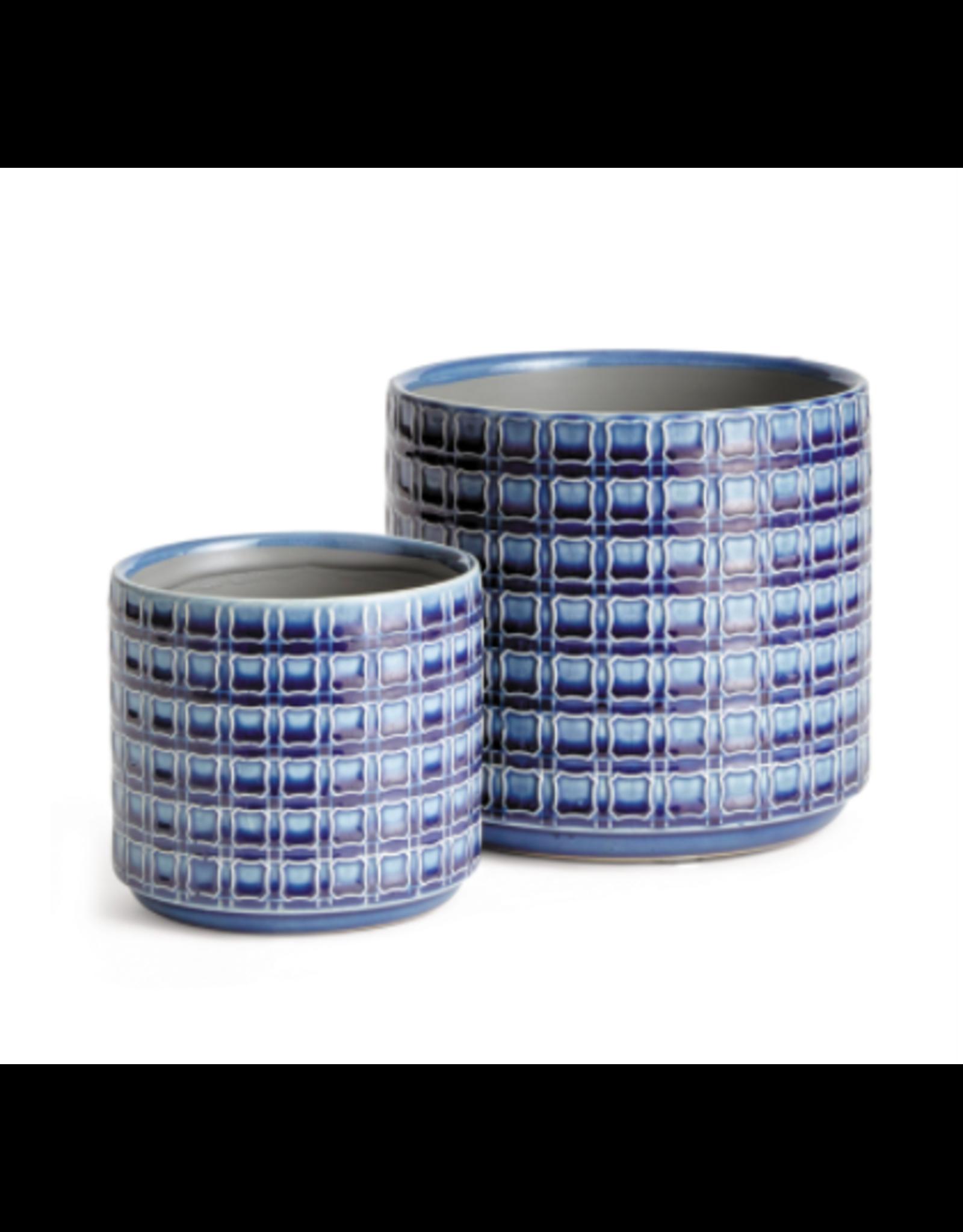 Napa Home & Garden Nolen Pot in Navy 6.75 x 6.75 x 6.75