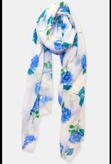 Paint & Petals Long Scarf in Hydrangea