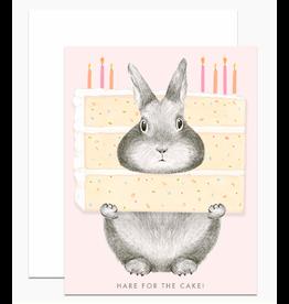 Dear Hancock Hare for the Cake Card