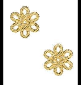 Lisi Lerch Mini Cameran Gold Stud Earrings