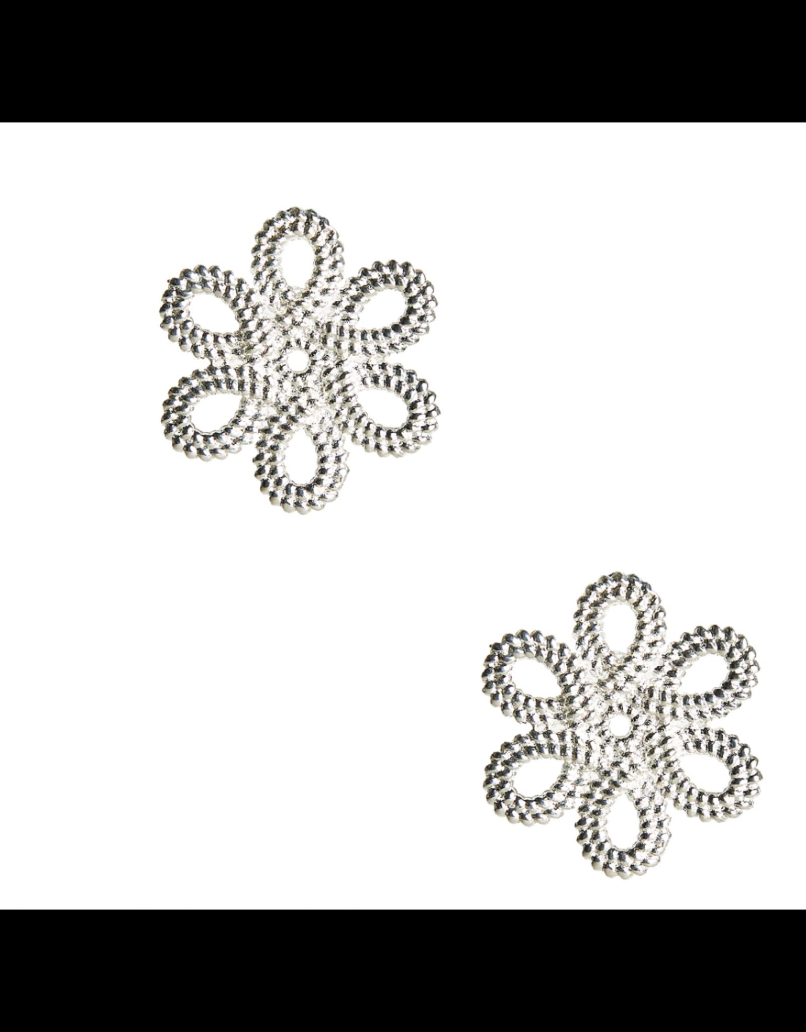 Lisi Lerch Mini Cameran Silver Stud Earrings
