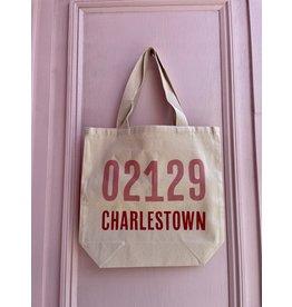 Potluck Press Pink Charlestown 02129 Tote