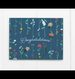 Ramus & Co Congrats Flower Cascade Card