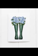 Ramus & Co Rain Boot Hydrangeas Card
