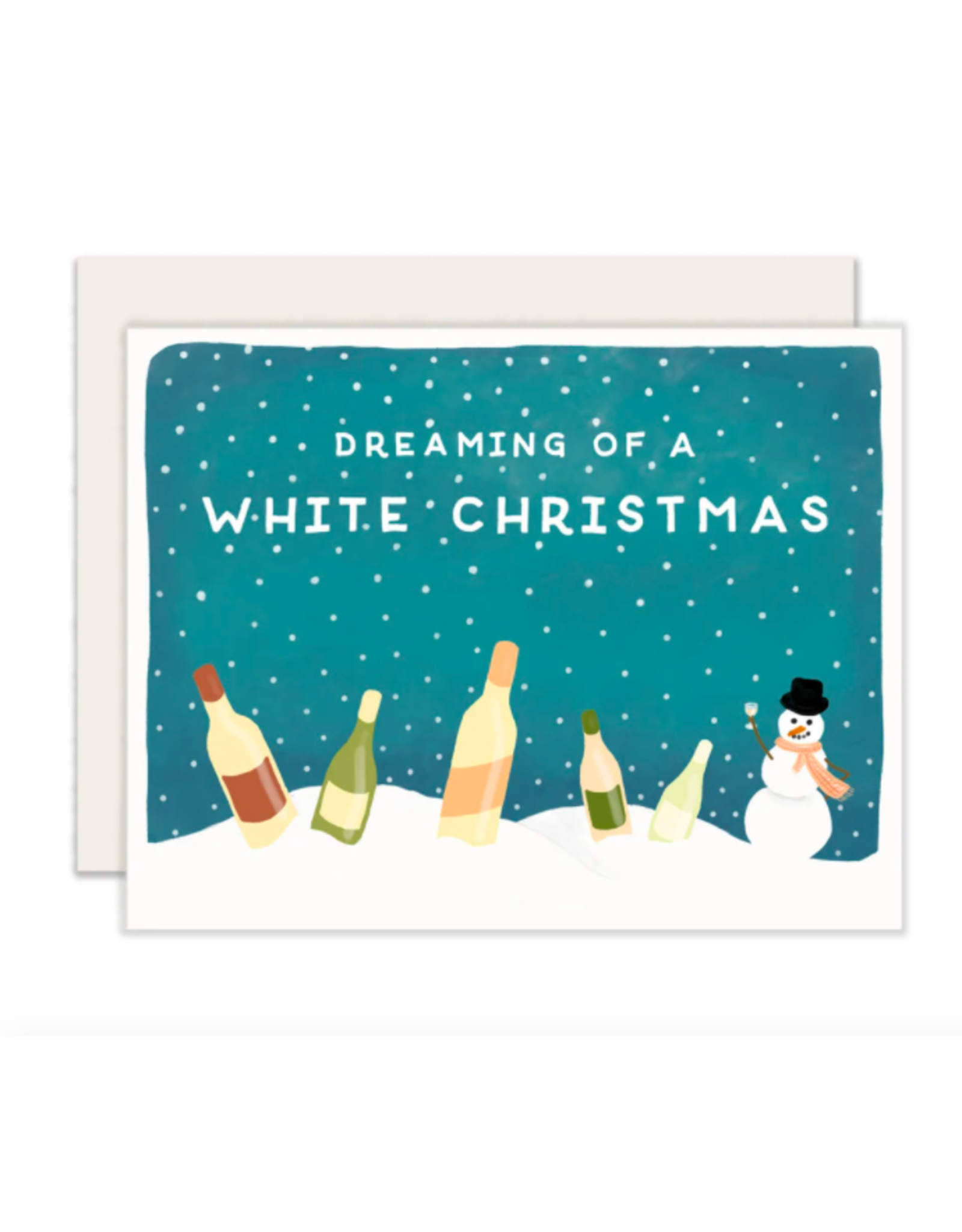 Slightly Stationery White Christmas Card