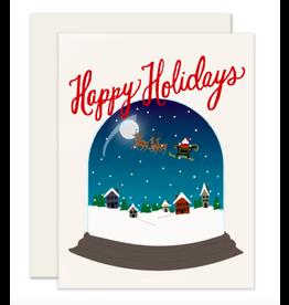Slightly Stationery Santa Snowglobe Card