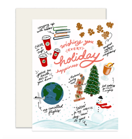 Slightly Stationery Holiday Happiness Card